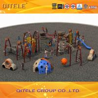 China Safety Performance Kids Outdoor Gym Equipment Rock Climber And Tunnel Slide wholesale