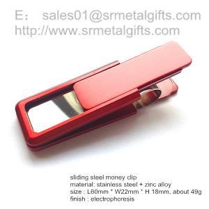 China Fashion designer steel pocket money clip paper note clip wholesale