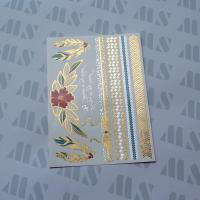 China Hot Gold Foil Metallic Temporary Water Transfer Body Tattoo wholesale