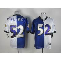 China Nike NFL Baltimore Ravens 52 R.Lewis white-purple split Elite jersey wholesale