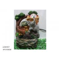 China Polyresin waterfall fountain with elephant with ball on sale