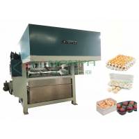 China 2200Pcs/H Paper Egg Carton / Egg Tray Making Machine Pulp Molded Line on sale