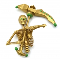 China Skeleton MJF Rapid Prototyping 3d Printing Service With Gold Painted wholesale