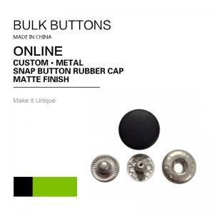 China DTM TCX Colour Bulk Snap Button Rubber Flat Cap Black Matte Finish on sale