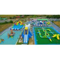 China Outdoor Adults Giant Inflatable Water Parks , Floating Playgrounds Customized Logo wholesale