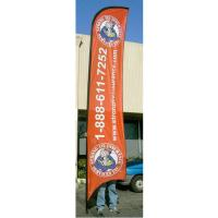 China Advertising exhibition event Feather Flag Banners H4m / 13ft Size wholesale