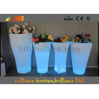 China Fashionable LED Flower Pot / Vase With Led Lights 16 Colors Changeable wholesale