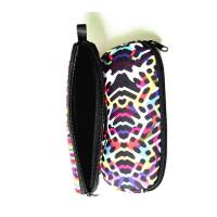 China Portable Travel Zipper Soft Neoprene Sunglasses bag.SBR Material. Size is 19cm*8.7cm. wholesale