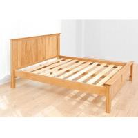 China Custom Home Oak Solid Wood Bed Frame Queen Size European Style High Grade wholesale