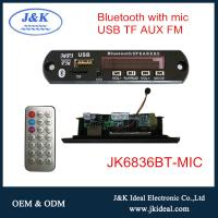 China JK6836BT-MIC For car audio usb fm bluetooth 5.0 mp3 module with microphone on sale