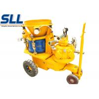 China Air Motor Dry Mix Concrete Shotcrete Machine Rail-wheel Chassis Gunite Machine 5m3/h wholesale