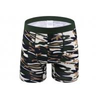 China Sport Long Leg Boxer Shorts For Man , Cotton Men'S Underwear With Support Pouch wholesale