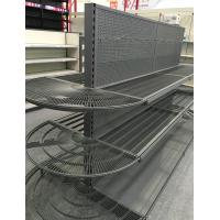 China Supermarket / Grocery Store Display Racks Half Round End Cap Unit Shelf wholesale