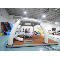 China DWF 20cm Thickness Inflatable Floating Platforms Dock Inflatable Water Floating Island Inflatable Aqua Banas wholesale
