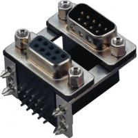 China Female Male Db9 Connector Dual Row Right Angle D SUB FOR Communication wholesale