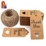 China Original Design Thank You  Kraft Paper Hang Custom Size Cardboard Gift Tags wholesale
