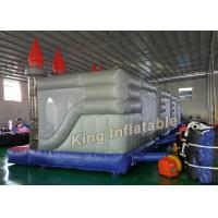 China Gray 4 X 4m Square Inflatable Jumping Castle Kids Inflatable Bouncy Castle wholesale