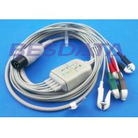 China LL Universal One Piece ECG Cables And Leadwires 5 Lead 6 Pin Generic Clip Electrodes wholesale