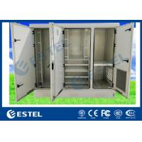 China IP55 Outdoor Power Cabinet Three Bay Telecom Shelter With Air Conditioner Cooling wholesale
