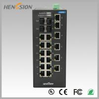 China 18 Electric port + 4 Gigabit FX fiber optic 28 Port Switch , Industrial Ethernet Switch wholesale