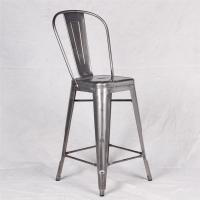 China Metal Tolix Chairs With Brushed Galvanized Marais Bar Counter Stool Chair wholesale