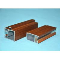 China 6063-T5 Wood Grain Aluminum For Office Room GB/5237.1-2008 wholesale