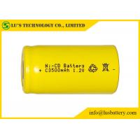 China Low Self Discharge C3500mah 1.2 V Nicd Rechargeable Batteries Wide Temperature Range on sale