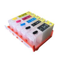 China Color Compatible Printer Ink Cartridges , Black / Yellow Canon Refillable Ink wholesale