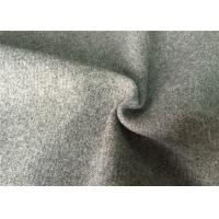 50wl40P10other mid-grey  color twill  Melton Wool Fabric for all people