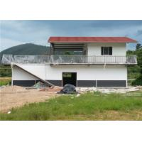 China One And A Half Floor Steel Frame Small House / Light Steel Prefab House With Balcony wholesale