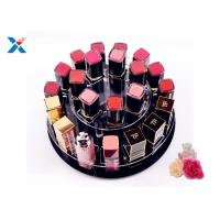 China 2 Tiers Round Acrylic Makeup Organiser 360 Degree Rotating For Displaying Lipsticks wholesale