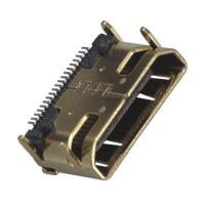 China Computer Pin Connectors Mini HDMI 19P Right Angle & SMT LCP Black UL94V-0 ROHS wholesale