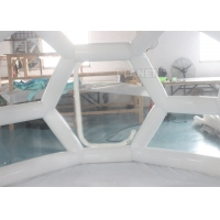 China Outdoor Portable 4m Air Sealed Clear Transparent PVC Inflatable Soccer Bubble Camping Tent wholesale