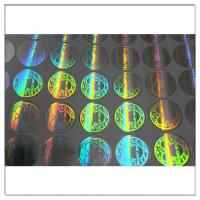 China Custom printed round hologram sticker label,  anti tamper security waterproof custom hologram label wholesale