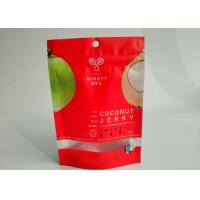 China Resealable Snack Bag Packaging Coconut Powder Pack Custom Printing With Clearly Window wholesale