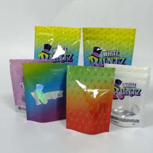 China Stand Up Ziplock Gummy Bear Grip Seal Bags Cookie Runtz Gruntz Weeds Packaging wholesale