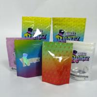 China Ziplock Holographic Herbal Incense Packaging Customized Bag Childproof 3.5g Pouch wholesale