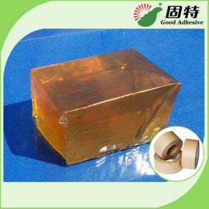 China Yellow Transparent Block Hot Melt Glue Adhesive Pressure-Sensitive Melt Adhesive Kraft Paper Tape wholesale