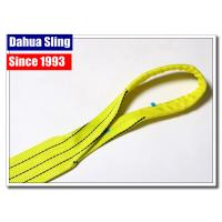 China Heavy Duty Polyester Lifting Slings Crane Lifting Straps For Cargo / Crane wholesale