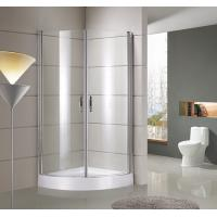 China round / sector Corner Shower Enclosures Tempered  glass Material Magnet lock strip wholesale