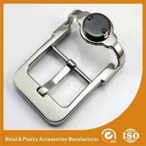 China Unique Zinc Alloy Metal Custom Belt Buckle Silver Pin Belt Buckle GLT-12008 wholesale