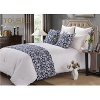 China Elegant & Simple Hotel Bed Runners King Size Blue Bed Runner wholesale