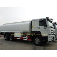China 17cbm 6x4 Fuel Oil Tank Truck With HOWO Chassis 336 Hp engine , White color wholesale