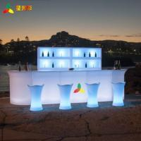 China illuminated glow LED plastic lighted Straight Bench corner bench bar table set  for bar ktv party decoration wholesale