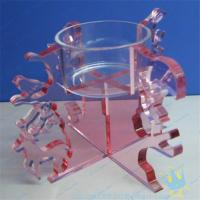 China CH (18) Clear Acrylic Candle Holder With Acrylic Stand wholesale