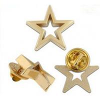 China 3D cut out star shape die casting Pin Badge wholesale