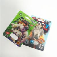 China 3d Holographic Effect Blister Card Packaging With Gold Rhino Container Bullet wholesale