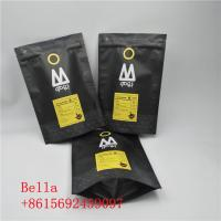 China Foil Lined Kraft Paper Coffee Bags Recyclable Customized Thickness 00521 wholesale