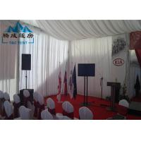 China Snow Load Marquee Canopy Tent Sound Insulation With Double PVC Coated Cover wholesale