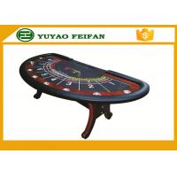 China 8 person used Professional Modern Half Round Type Texas Holdem Poker Table with 8 cup holders wholesale